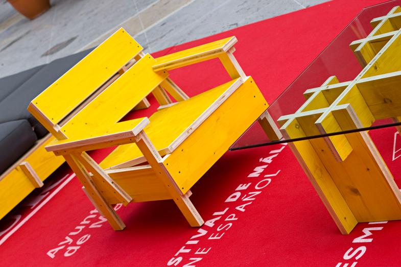 Interpretación libre de la silla Sieda del diseñador Enzo Mari